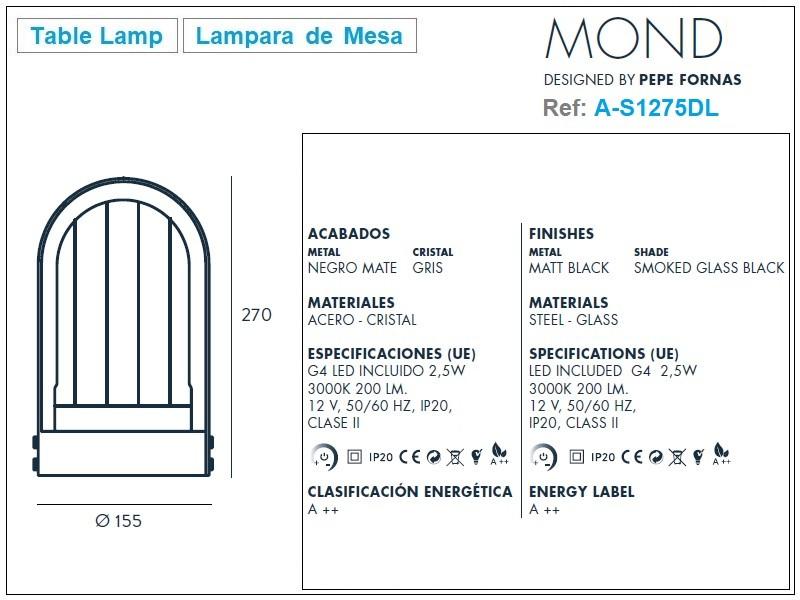Mond Table Lamp Design by Aromas