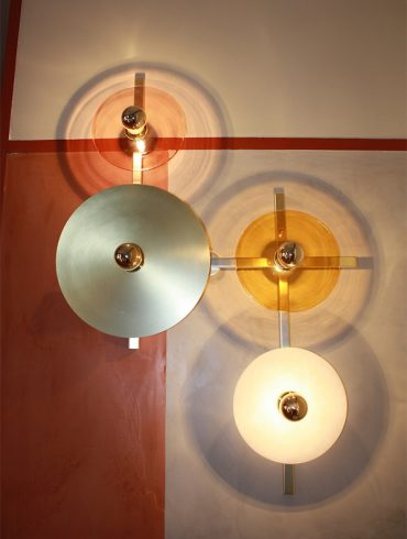 ABBY Wall Lamp 4 Lights Matt Gold Bronze By AC Studio 2018 Ref.A1259-600-800