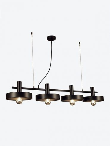 ALOA – L Pendants Lamp Matt Black By Fornasevi Ref.C1227-4-600×800