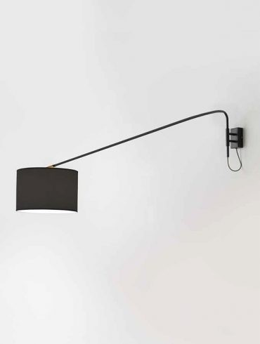 XTRA Wall Lamp Matt Black or Chrome By Fornasevi Ref.A1172-2 nº1 600×800