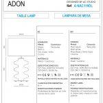 ADON Table Lamp Sizes
